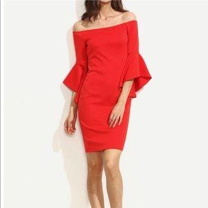 Dresses & Skirts - 🎉Host Pick🎉🎀NEW🎀 Red Off The Shoulder Dress